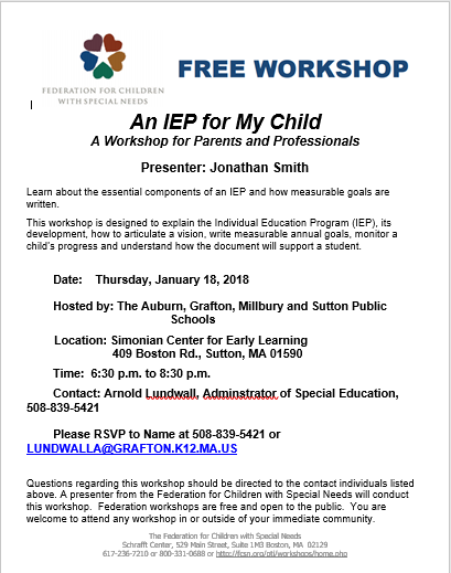An IEP for my Child
